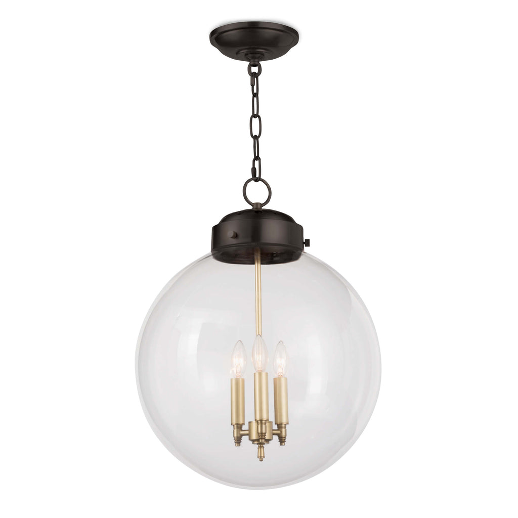 GLOBE PENDANT (OIL RUBBED BRONZE AND NATURAL BRASS)