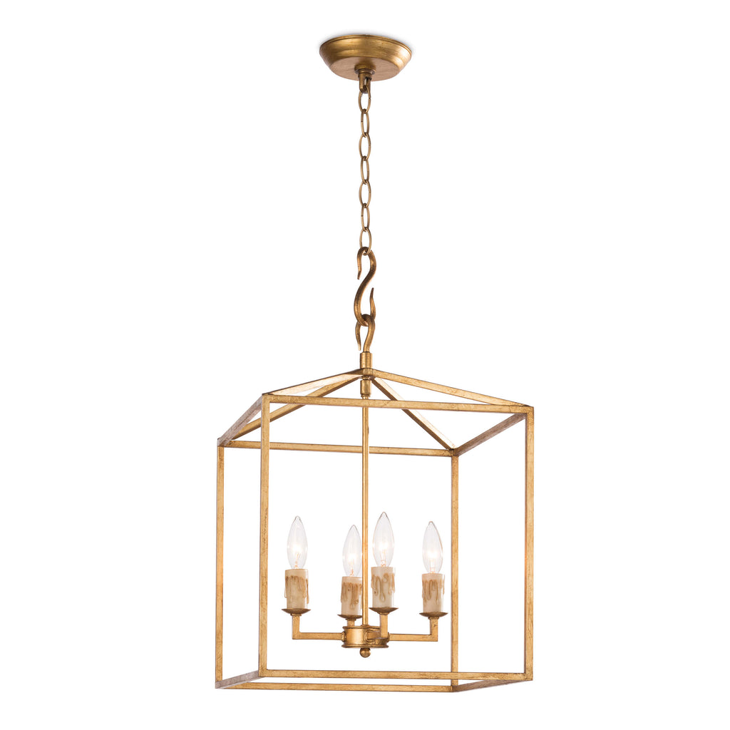 CAPE LANTERN SMALL (ANTIQUE GOLD LEAF)