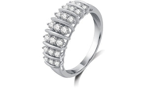 1/2 CTTW Genuine Diamond Fashion Band in Sterling Silver By DeCarat (PRODUCT TEST)