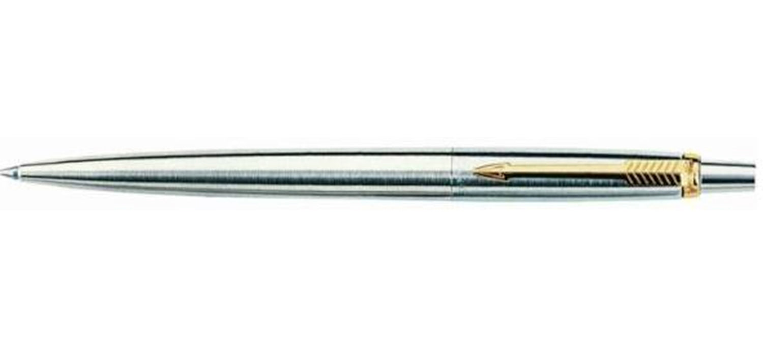 Parker Jotter Stainless Steel Gold Trim BP NEW