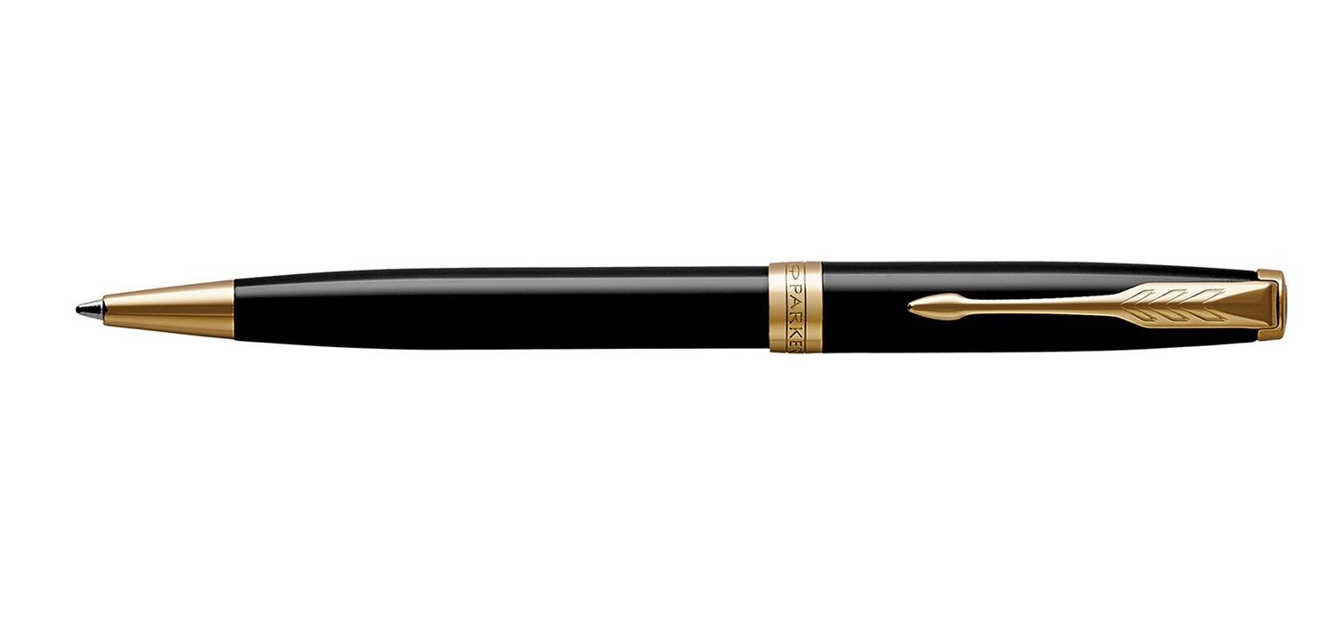 Parker Sonnet Black Lacquer Gold Trim BP