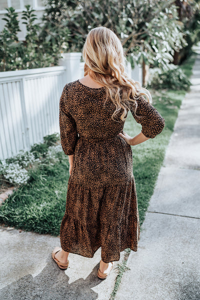 Spotted Tiered Maxi