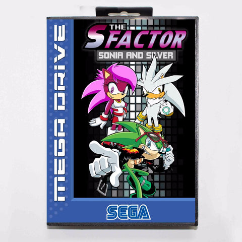 The S-Factor (Sonic And Silver) With Retail Box Sega Genesis & Mega Drive