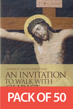 Load image into Gallery viewer, An Invitation to Walk with Christ: Stations of the Cross Prayer Guide