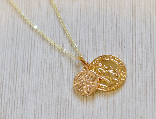 The Holy Heart // St Christopher Necklace