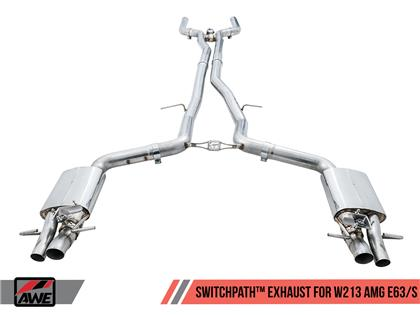 AWE Tuning Mercedes-Benz W213 AMG E63/S Sedan/Wagon SwitchPath Exhaust System - for DPE Cars