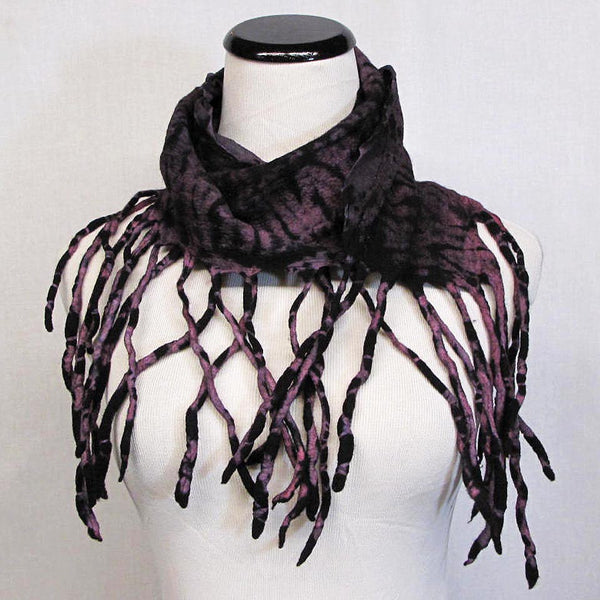Scarf in Black/Lavender by B. Felt - Fire Opal