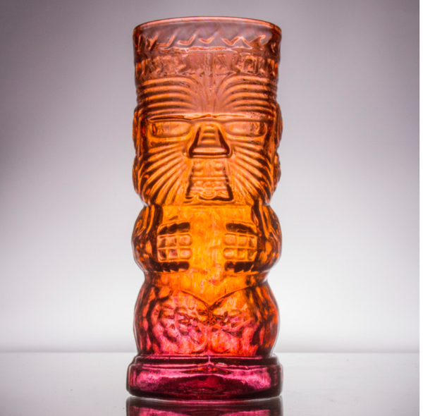 Warrior Glass Tiki Mug by Andrew Iannazzi
