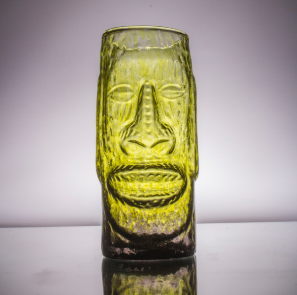 Moai Glass Tiki Mug by Andrew Iannazzi