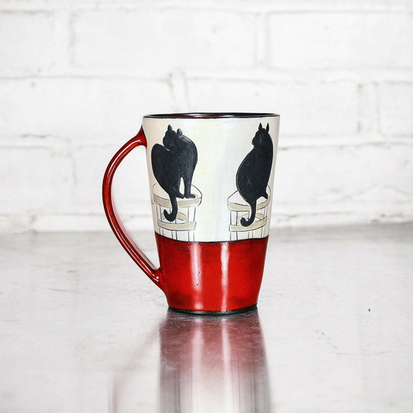 Illustrated Mug by Sally Jaffee - Red