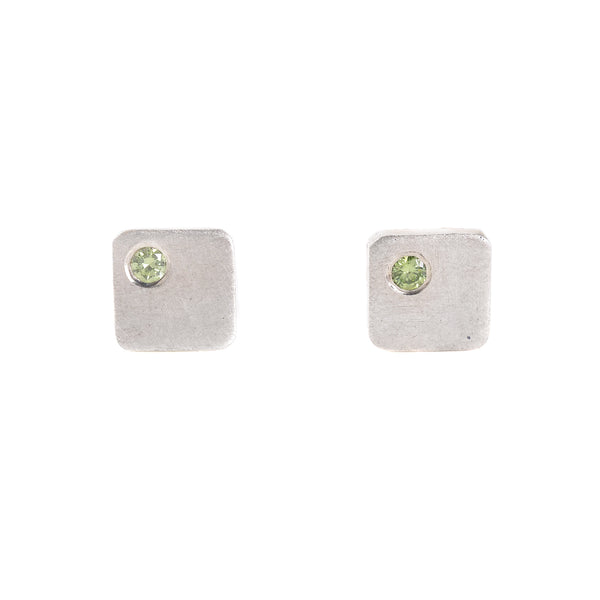 NEW! Lime Green Diamond Cell Studs by EC Design