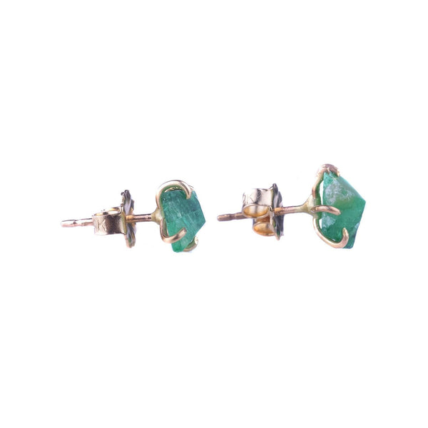 NEW! Small Pakistani Emerald Studs by Variance Objects