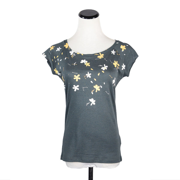 NEW! Grey Flowers T-Shirt by Umsteigen