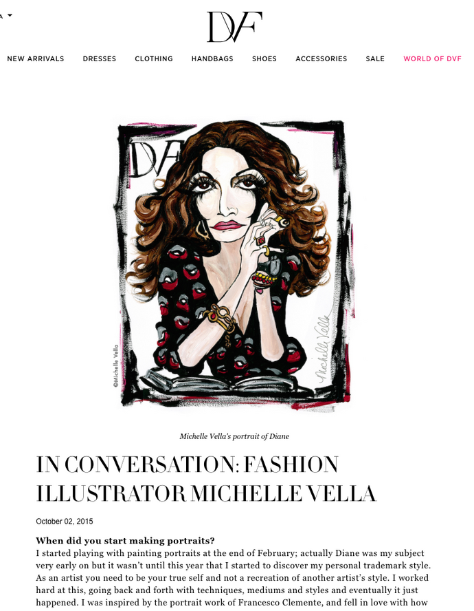 WORLD OF DVF blog Features Fashion Illustrator Michelle Vella Oct 2, 2015