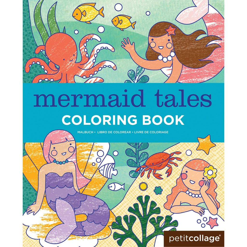 MERMAID TALES COLOURING BOOK PETIT COLLAGE