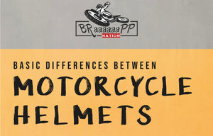 Basic differences between motorcycle helmets