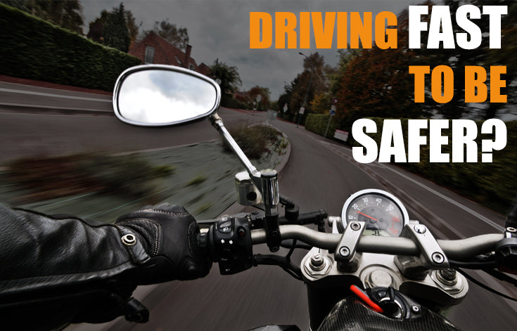 Is faster on a motorcycle, safer?