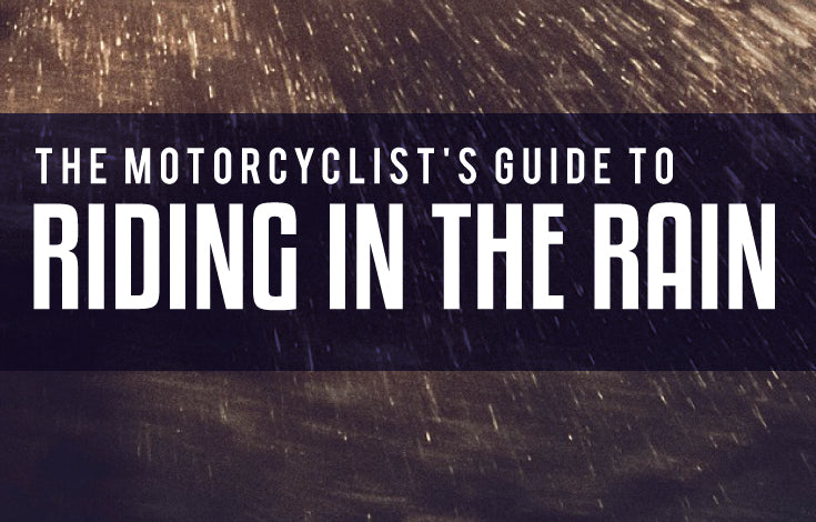 Motorcycle safely ride in the rain