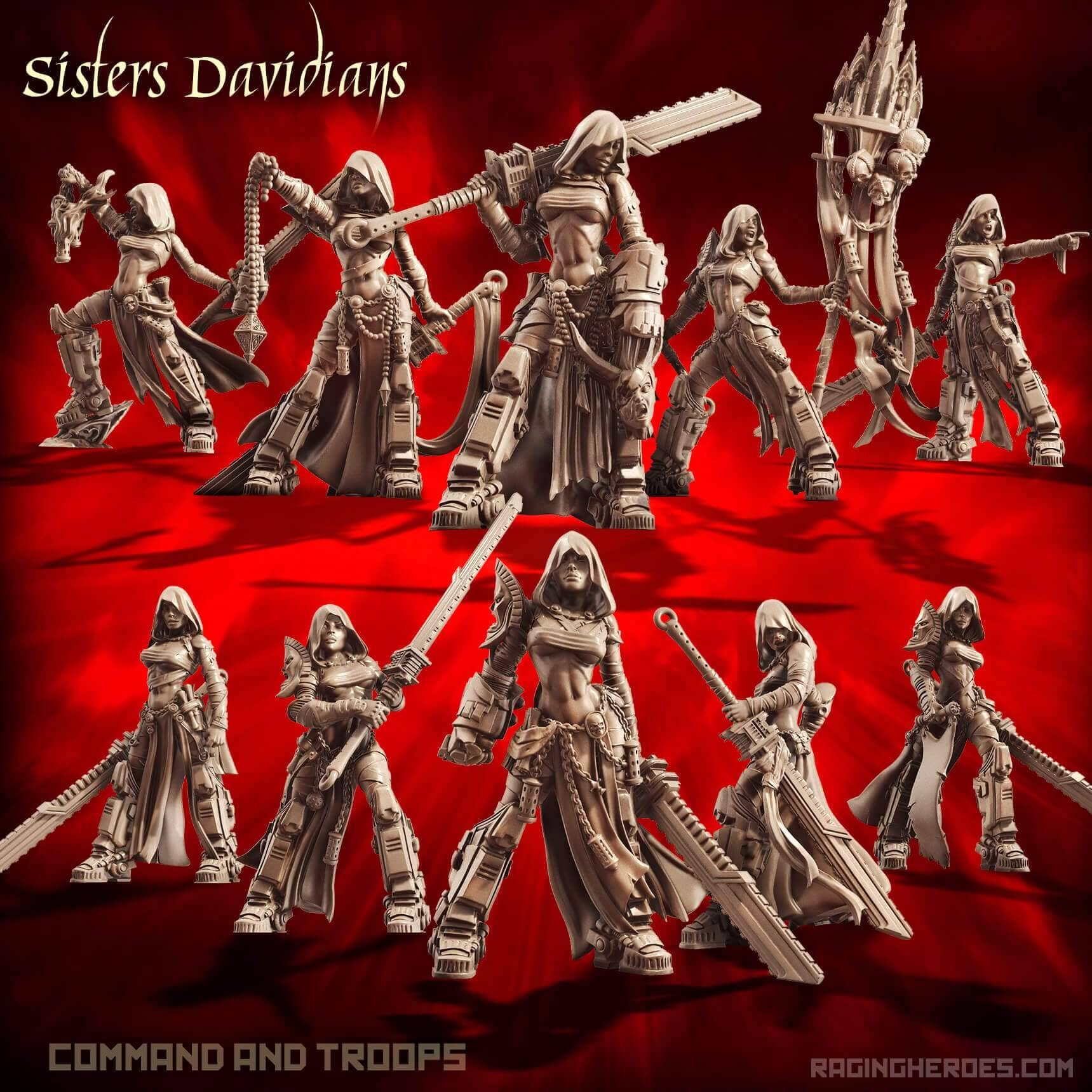 Davidians Pack - Command + Troop (SoEM - SF)