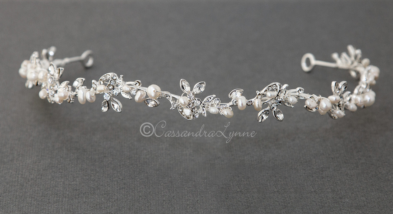 Vine Bridal Tiara with Pearls