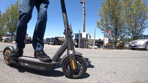 Ninebot Max by Segway outdoors