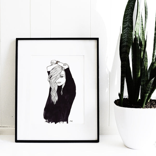 chic fashion illustration print