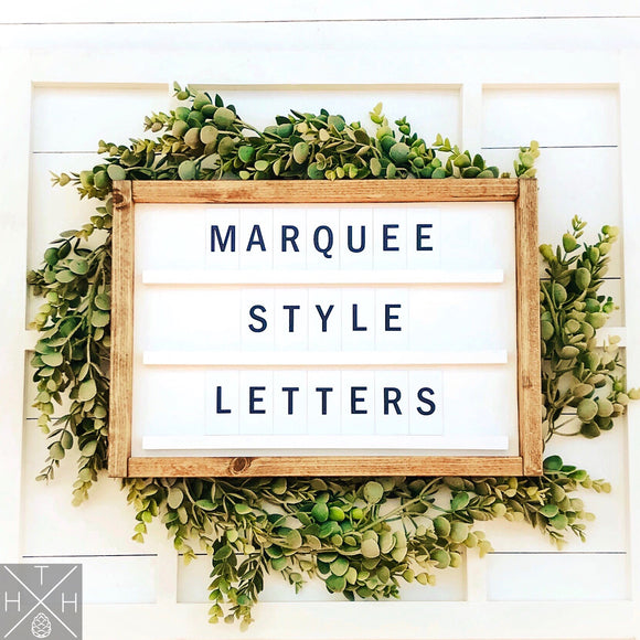 Marquee Letter Board Handmade Wood Sign