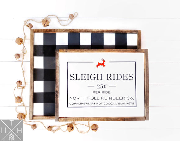 Layered Plaid and Sign Bundle Handmade Wood Sign Pick 20x25 Plaid with 15x20 Sign or 15x20 Plaid with 10x15 Sign for layering!