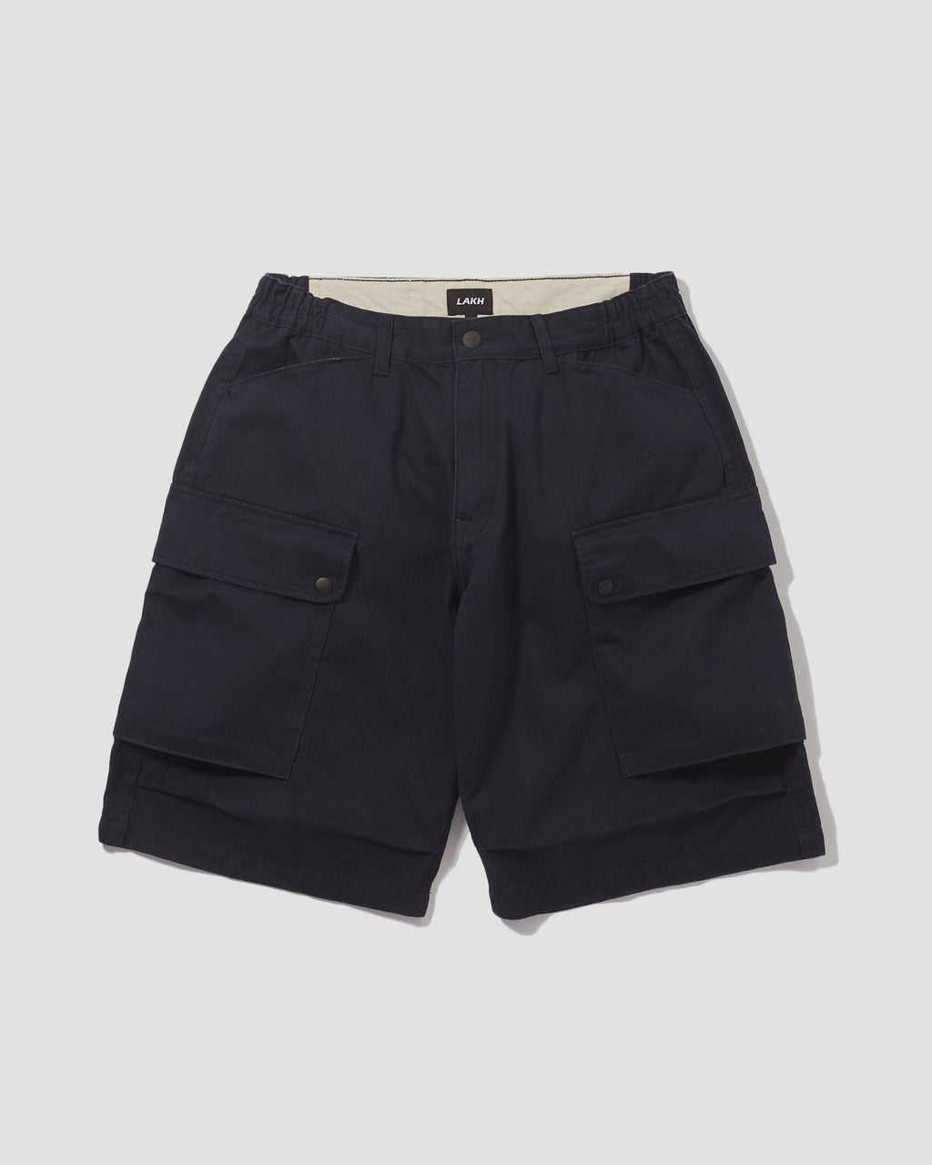 Herringbone Cargo Shorts - Navy