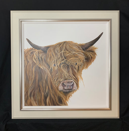 Gill Davies 'Highland Fellow' New Original Animal Artwork For Sale