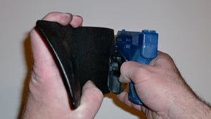 Wallet style top covered back pocket holster for licensed concealed weapon carry of Beretta Nano