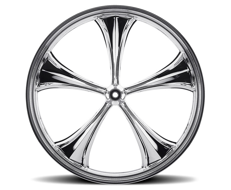 Chrome 30-inch Forged 2D 3D Wheels - All Star Custom Motorcycle Wheel TOL Designs