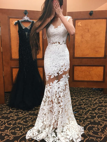 F0072 Lace Wedding Dress,White Wedding Dresses,Mermaid Wedding Dress,White Wedding Gown,Prom Gowns,Elegant Bridal Dress,Modest Evening Gowns,Sexy Party Gowns,Bridal Dress