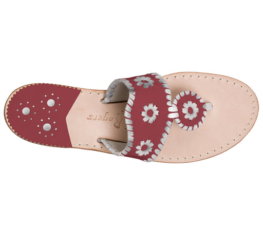 Custom Jacks Sandal Medium - Garnet / Silver-Jack Rogers USA