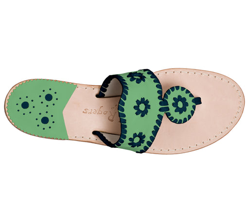 Custom Jacks Sandal Medium - Green / Midnight-Jack Rogers USA
