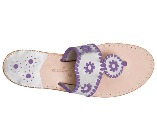Custom Jacks Sandal Wide - Silver / Purple-Jack Rogers USA
