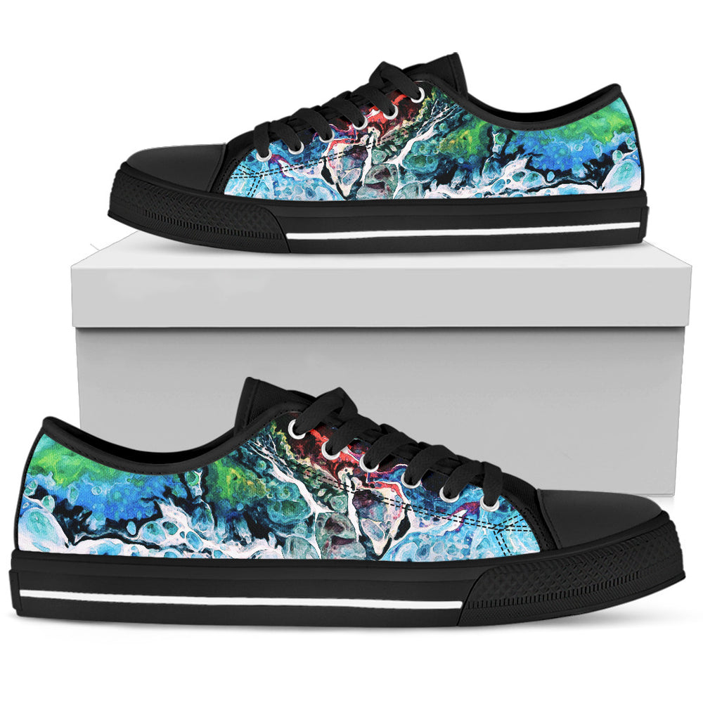 Men's Low Tops Colorful Black