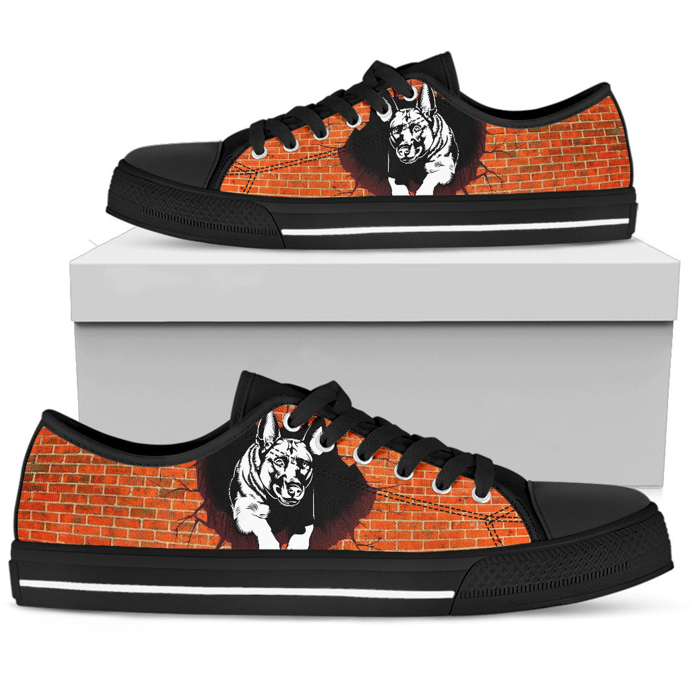 German Shepherd Men's Low Top Shoe - CRE8Custom