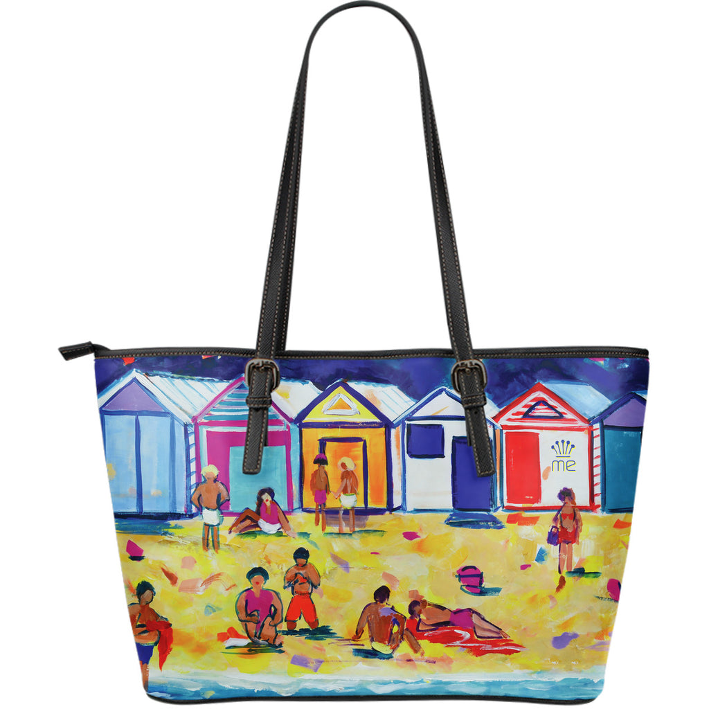 Beach and waves Large Tote Bag - CRE8Custom