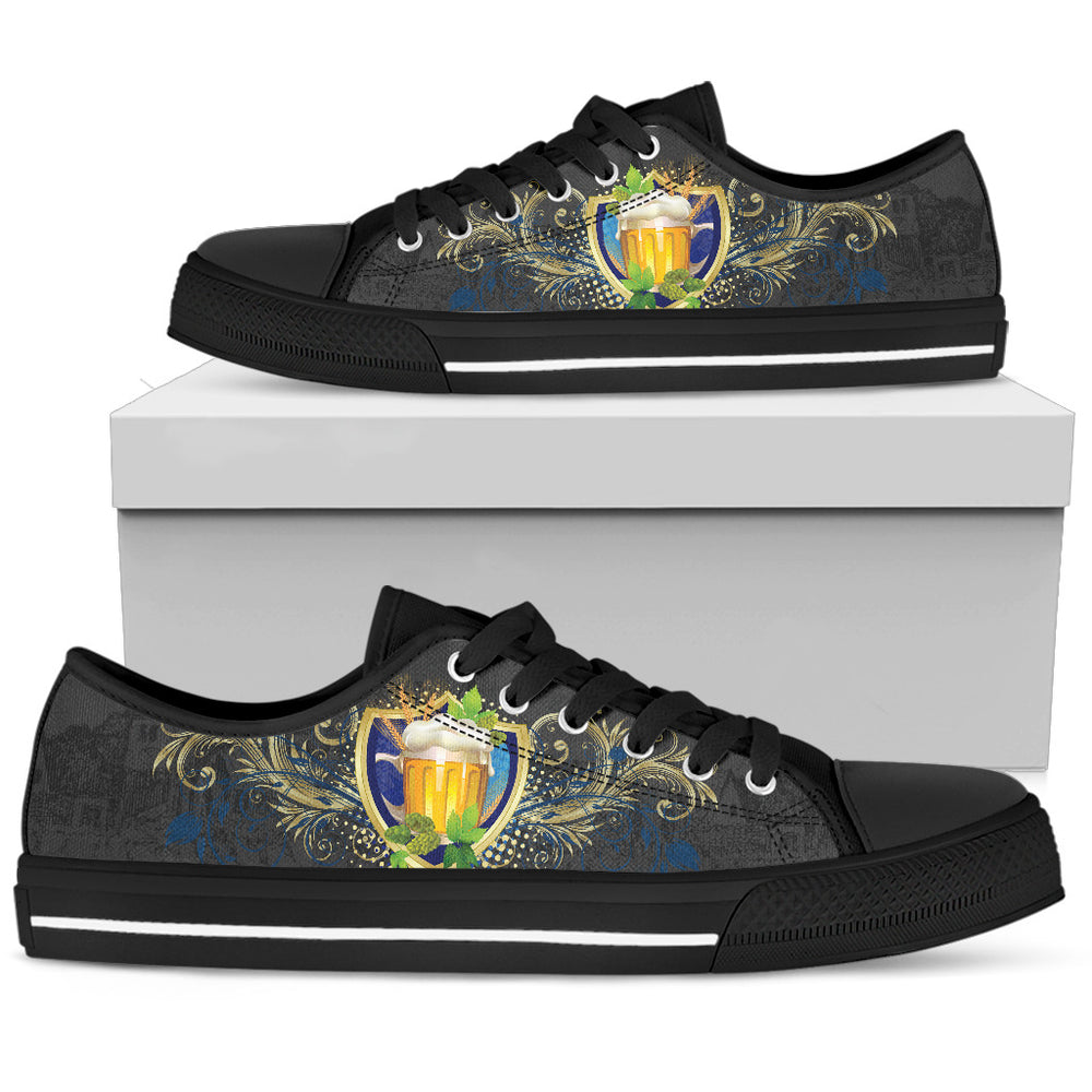 Beer Men's Low Top Shoe - CRE8Custom