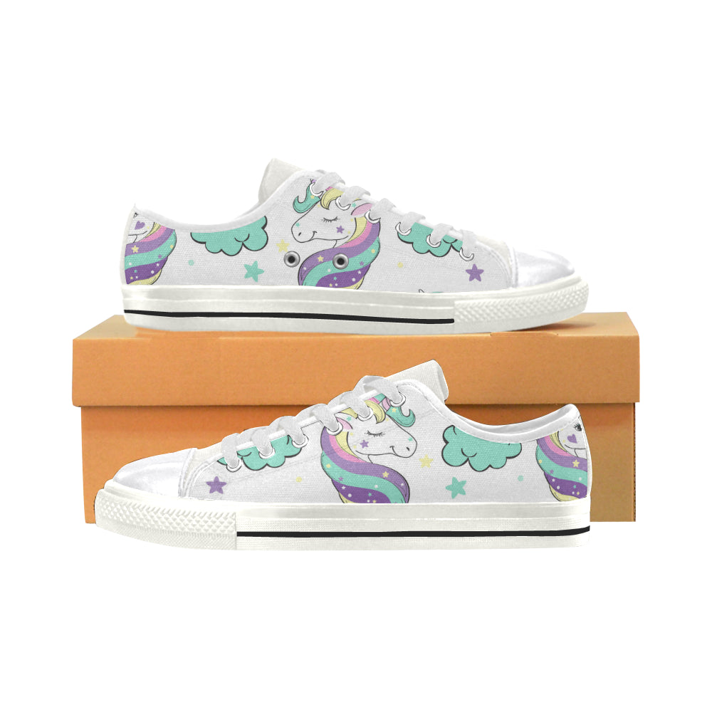 Unicorn in the Clouds Women's Classic Canvas Shoes Casual Shoes