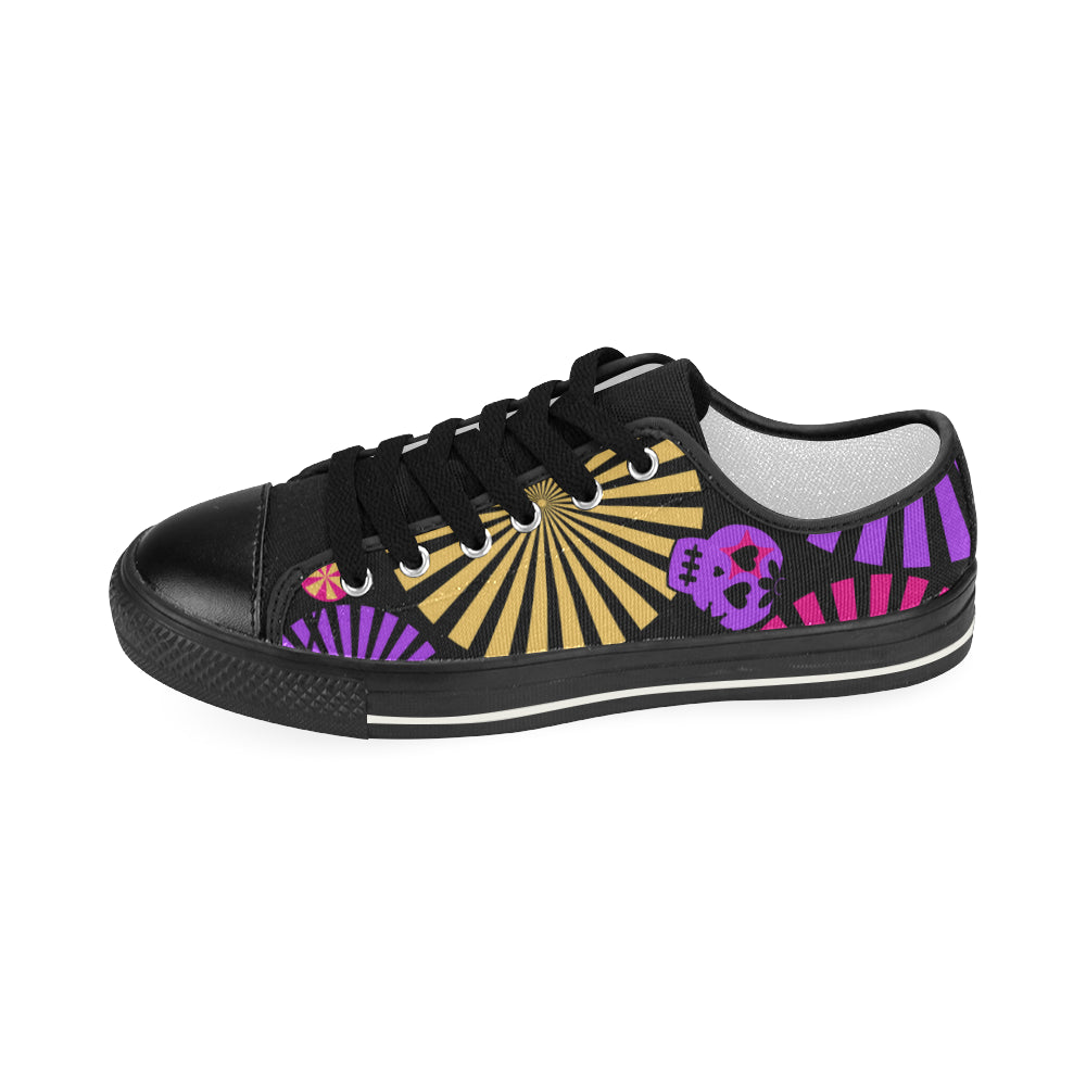 Skull Pattern Women's Classic Canvas Shoes Casual Shoes