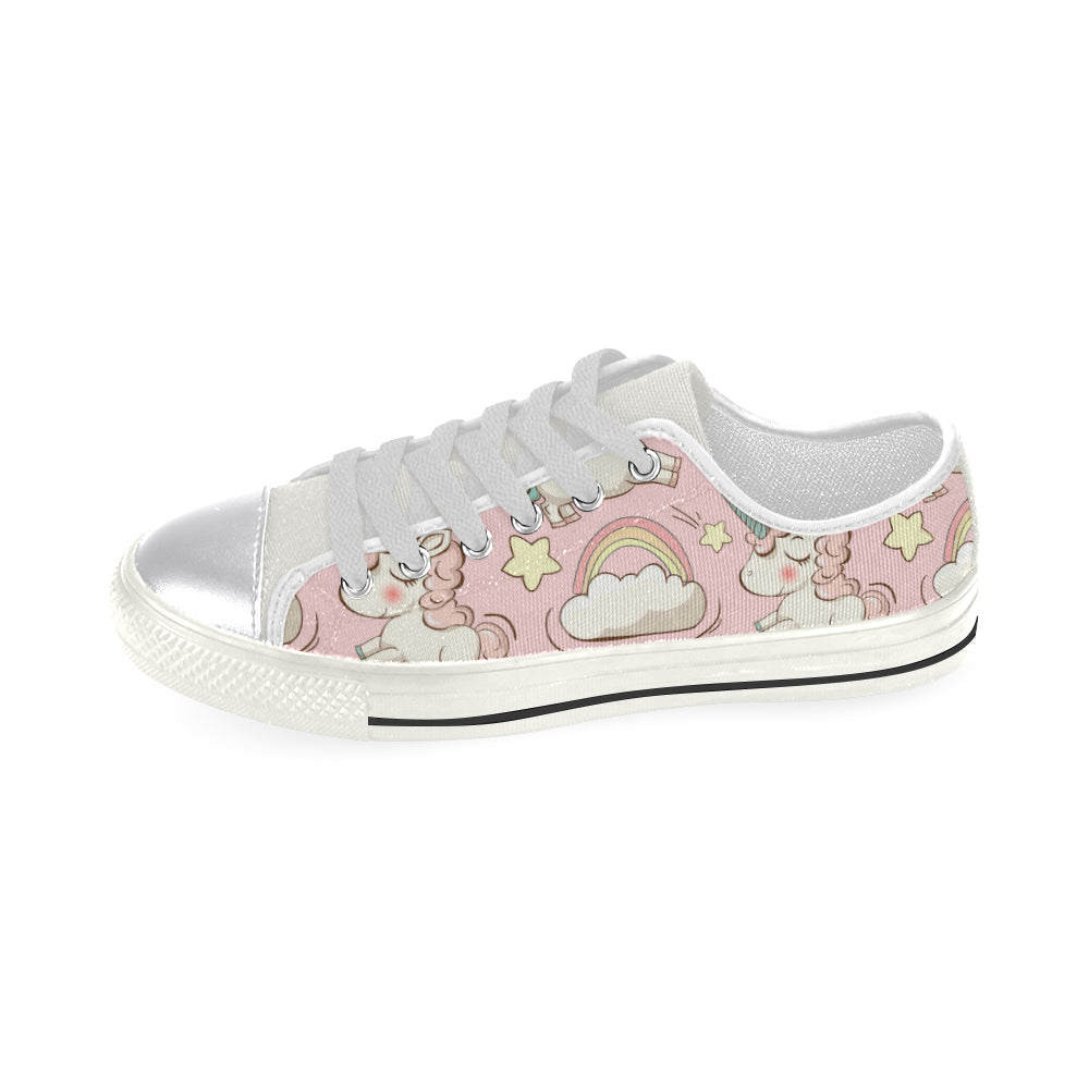 Vector Pattern Cute Unicorns Women's Classic Canvas Shoes Casual Shoes