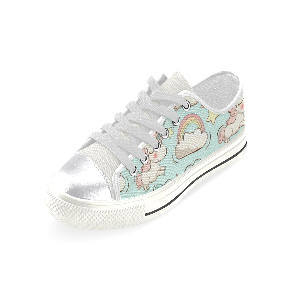 Unicorns Clouds Rainbow and Stars Women's Classic Canvas Shoes Casual Shoes