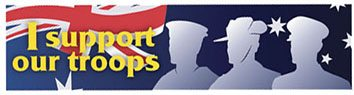 "Bumper Sticker – ""I support our troops"""