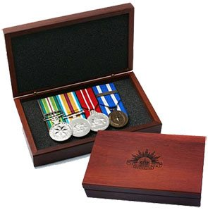 Jarrah Medal Box with Rising Sun