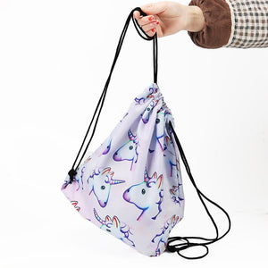 New 3D Pink Unicorn Printing School Bags