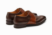 Albert Crocodile Leather Derby - Brown