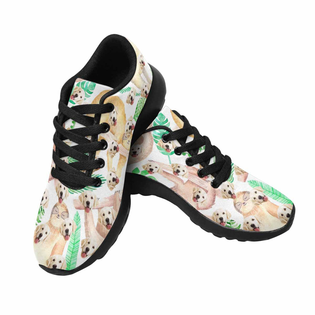 Custom Printed Picture Sloth Dog Women's Running Shoes Jungle Leaves
