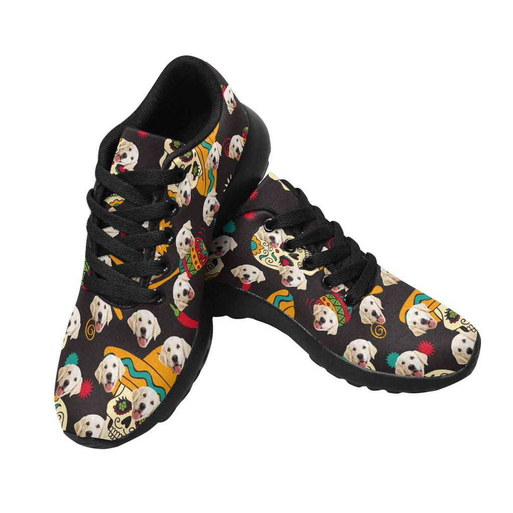 Personalized Printed Sugar Skulls Dog Women's Running Shoes